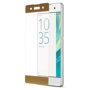 Para Sony Xperia XA / XA Dual Complete Covering Tempered Glass Screen Protective Film Anti-explosão - ouro