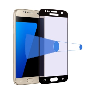 0.3mm 2.5D Anti-blu-ray Tempered Glass Screen Film for Samsung Galaxy S7 G930 - Black
