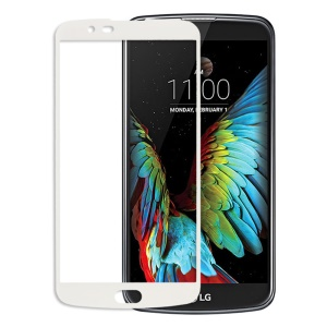 0.26mm Tempered Glass Screen Guard Film Complete Covering for LG K10 - White