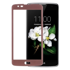 Tempered Glass Screen Film Guard Full Coverage for LG K7/Tribute 5 - Rose Gold