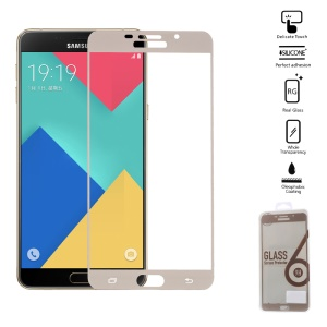 For Samsung Galaxy A9 (2016) Tempered Glass Screen Protector 0.2mm Complete Coverage - Gold