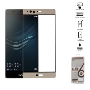 0.2mm Tempered Glass Screen Protector Full Covering for Huawei P9 Plus - Gold