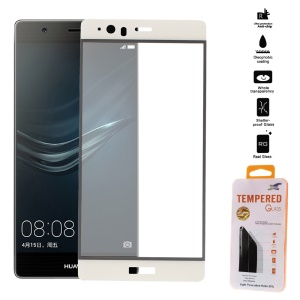 Tempered Glass Screen Protector Full Coverage for Huawei P9 Plus - White