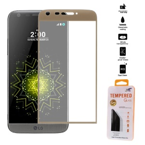Full Covering Tempered Glass Screen Protector for LG G5/G5 SE - Gold