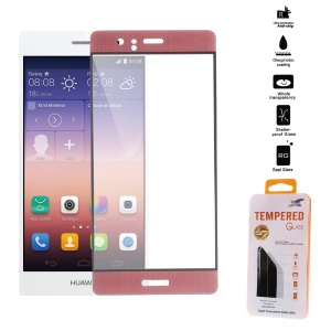For Huawei P9 3D Curved Tempered Glass Screen Guard Full Coverage 0.26mm - Rose Gold
