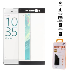 0.26mm Tempered Glass Screen Film Complete Covering for Sony Xperia XA Ultra - Black