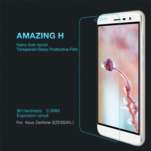 NILLKIN Amazing H Tempered Glass Screen Guard Anti-explosion for Asus Zenfone 3 ZE552KL