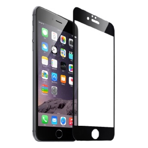 FSHANG Clear Tempered Glass Screen Protector Film for iPhone 6s/6 0.2mm Full Coverage - Black