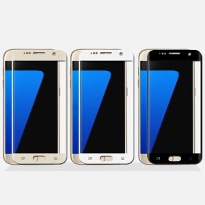 MOFI for Samsung Galaxy S7 G930 Tempered Glass Screen Guard 3D Curved Full Cover - Gold