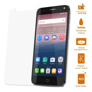 For Alcatel OneTouch Pop 4 Tempered Glass Screen Protector Guard 0.3mm (Arc Edge)