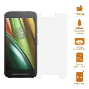 0.3mm Tempered Glass Screen Guard Film Arc Edge for Motorola Moto E3
