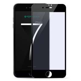 TOTU for iPhone 7 Plus 5.5 3D Curved Tempered Glass Screen Film - Black