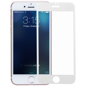 MOMAX for iPhone 7 Glossy Full Size Nanometer Curved Tempered Glass Screen Protector 0.2mm - White