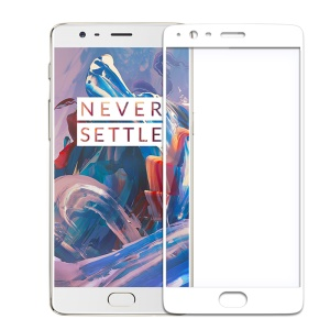 NILLKIN for OnePlus 3 Amazing CP+ Tempered Glass Screen Guard Full Coverage - White