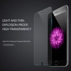 BASEUS 0.3mm Protetor de tela de vidro temperado Guard Film para iPhone 8/7 Arc Edge - transparente