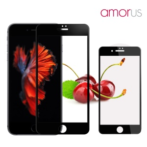 AMORUS for iPhone 7 3D Curved Full Screen Tempered Glass Protector Guard 0.3mm - Black