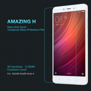 NILLKIN Amazing H Tempered Glass Screen Protector Guard for Xiaomi Redmi Note 4