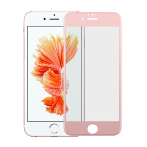 For iPhone 6s Plus / 6 Plus 0.2mm 4D Silk Print Tempered Glass Protector FilmFull Size - Rose Gold