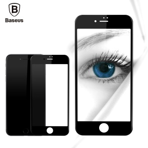 BASEUS for iPhone 7 Soft PET Edges 3D Curved Full Screen Tempered Glass Protector Guard Anti-blue-ray - Black