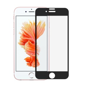0.3mm Silk Print Full Coverage Tempered Glass Screen Protector for iPhone 7 4.7 inch - Black