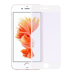 0.3mm Silk Print Anti UV Tempered Glass Screen Guard for iPhone 6s Plus/6 Plus - White