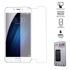 For Meizu M3E Tempered Glass Screen Protector 0.25mm 2.5D Arc Edge