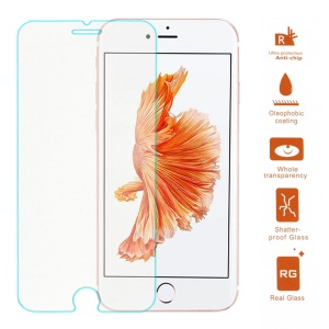 Protector de la pantalla de cristal templado 100Pcs / Lot 0.3mm para el iPhone 6s Plus / 6 más el borde del arco