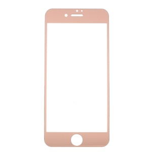 Pour iPhone 7 Électrodeur de verre trempé Screen Guard - Or rose