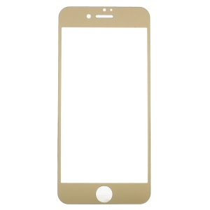 For iPhone 7 Plus Electroplating Tempered Glass Screen Film Guard - Gold