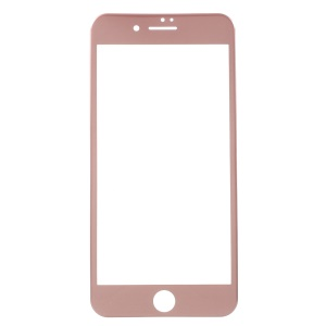 Soft Carbon Fiber Full Screen Tempered Glass Protector for iPhone 8 Plus/7 Plus 5.5 inch - Rose Gold