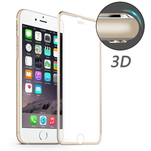 HAT PRINCE pour iPhone 6s Plus / 6 Plus 0,2mm en alliage d'aluminium en verre trempé - Or