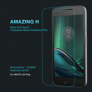 NILLKIN Amazing H Tempered Glass Screen Protector Guard Film 9H for Motorola Moto G4 Play