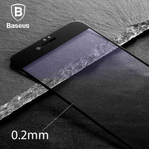 BASEUS 0.2mm Tempered Glass Full Screen Protector for iPhone 7 - Black
