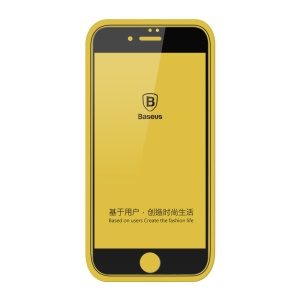 BASEUS for iPhone 7 Plus Silk Printing 0.2mm Tempered Glass Full Screen Protector - Black