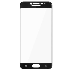 IMAK Full Coverage Tempered Glass Screen Film Guard for Samsung Galaxy C7 - Black