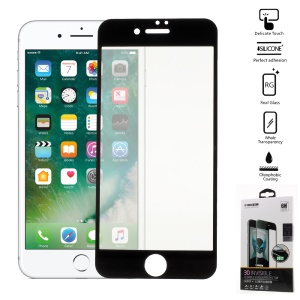 COOYEE 0.26mm 3D Full Covering Screen Protector Film for iPhone 7 Plus Arc Edge - Black