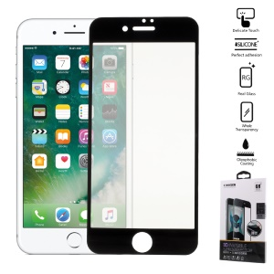 COOYEE 0.26mm 3D Soft Screen Protector Film for iPhone 7 Arc Edge - Black