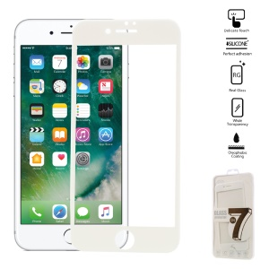 Soft Edge Tempered Glass Screen Guard Film  for iPhone 7 - White