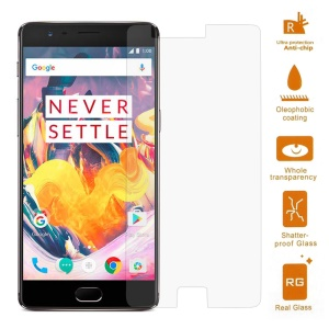 For OnePlus 3T 0.3mm Tempered Glass Screen Protector Guard Film (Arc Edge)