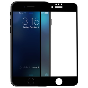 MOMAX for iPhone 7 Glossy 3D Curved Nanometer Tempered Glass Screen Protector Full Size 0.2mm - Black