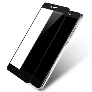 LENUO CF Carbon Fiber Tempered Glass Film Full Screen Cover for Xiaomi Redmi Note 4 - Black