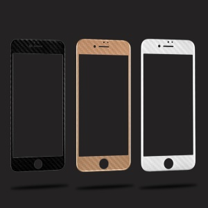 WUW 3D Curved Full Carbon Fiber Tempered Glass Screen Protector for iPhone 6s Plus / 6 Plus - Black