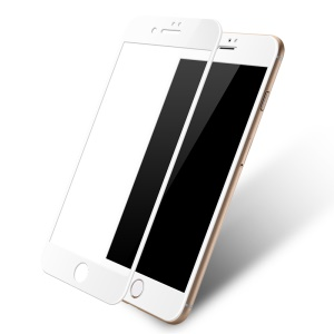 LENUO CF Full Screen Soft Carbon Fiber Tempered Glass Mobile Protector Film for iPhone 7 Plus - White