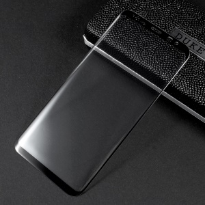 For Samsung Galaxy S8 Plus Curved Full Screen Cover Mobile Tempered Glass Protector - Black