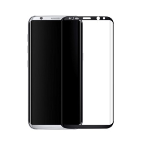 3D Curved Tempered Glass Full Screen Protector Film 0.3mm for Samsung Galaxy S8 Plus G9550 - Black