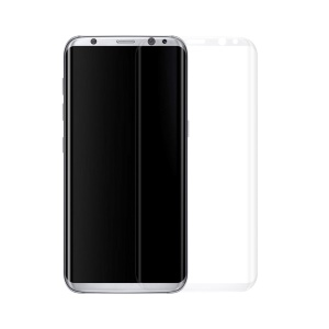 3D Curved Tempered Glass Full Screen Protector Film 0.3mm for Samsung Galaxy S8 Plus G9550 - Translucent