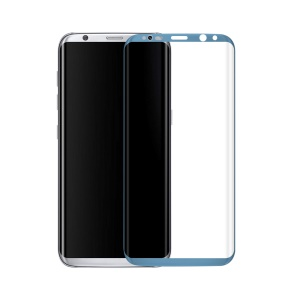 0.3mm 3D Curved Full Cover Tempered Glass Screen Protector for Samsung Galaxy S8 G9500 - Blue