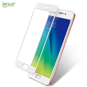 LENUO CF Full Cover Soft Carbon Fiber Tempered Glass Screen Protector for Oppo A57 - White