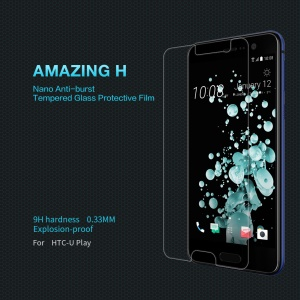 NILLKIN for HTC U Play Amazing H Tempered Glass Mobile Screen Protector Film + Camera Lens Films