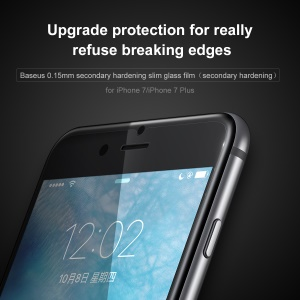 BASEUS Secondary Hardening 0.15mm Thin Mobile Tempered Glass Screen Protector for iPhone 7 4.7 inch